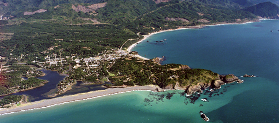 Aerial View of Port Orford